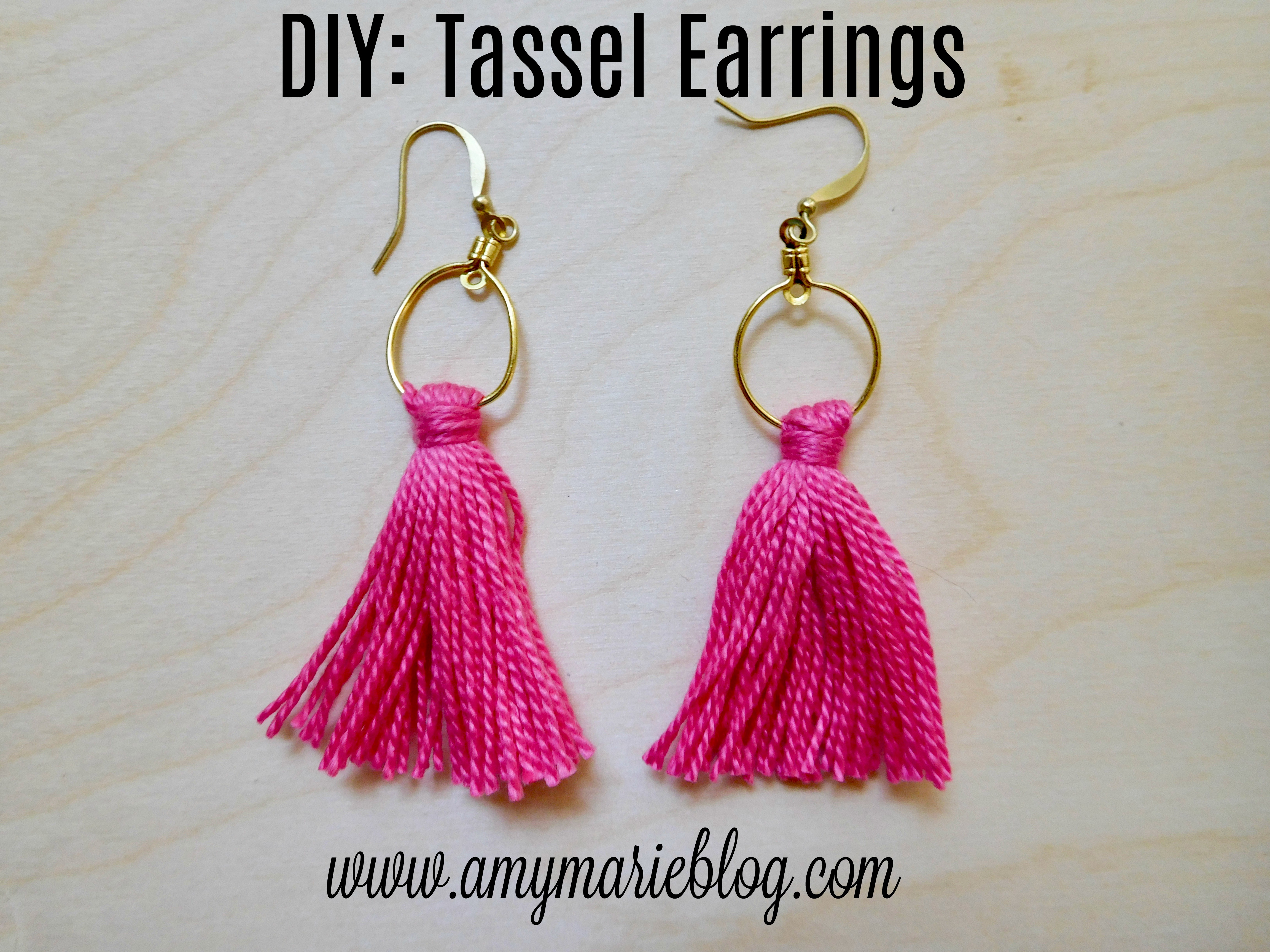 Diy Tassel Earrings Amy Marie