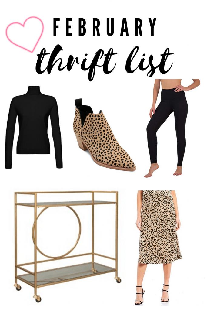 February thrift list